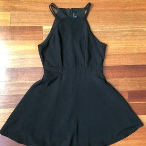 Black Dress w/ high neck and spaghetti straps
